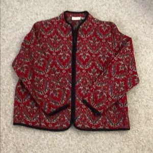 EUC beautiful zip up jacket